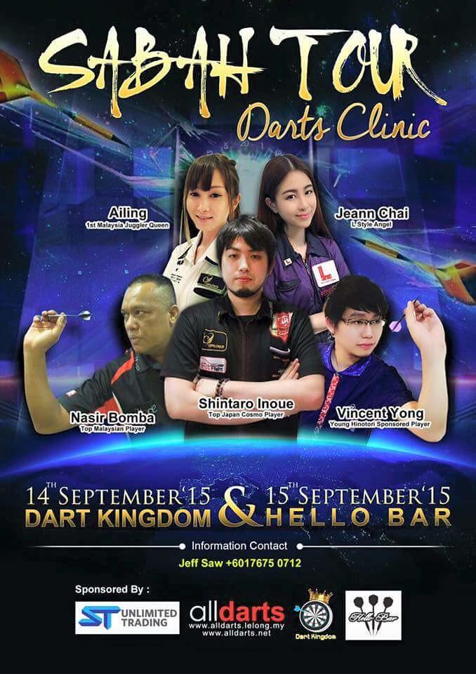 Sabah Tour darts clinic