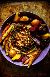Vegan Winter Harvest Hummus Bowl from HeatherChristo.com | by Heather Christo