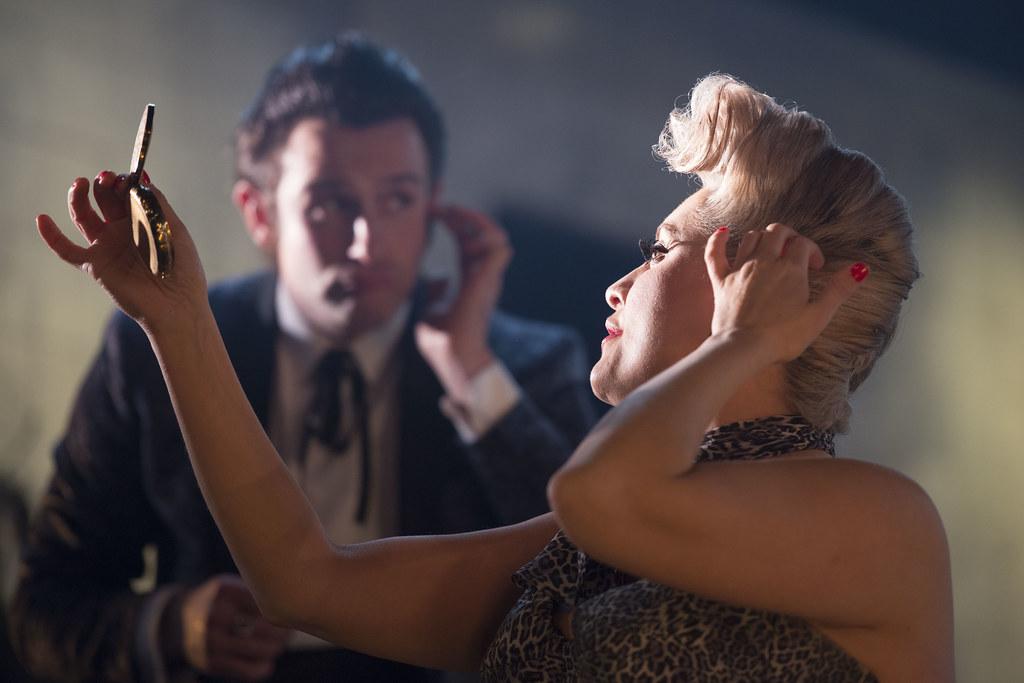 Louise McCarthy and Mark Barrett in Cuttin' A Rug. Photo by Tim Morozzo