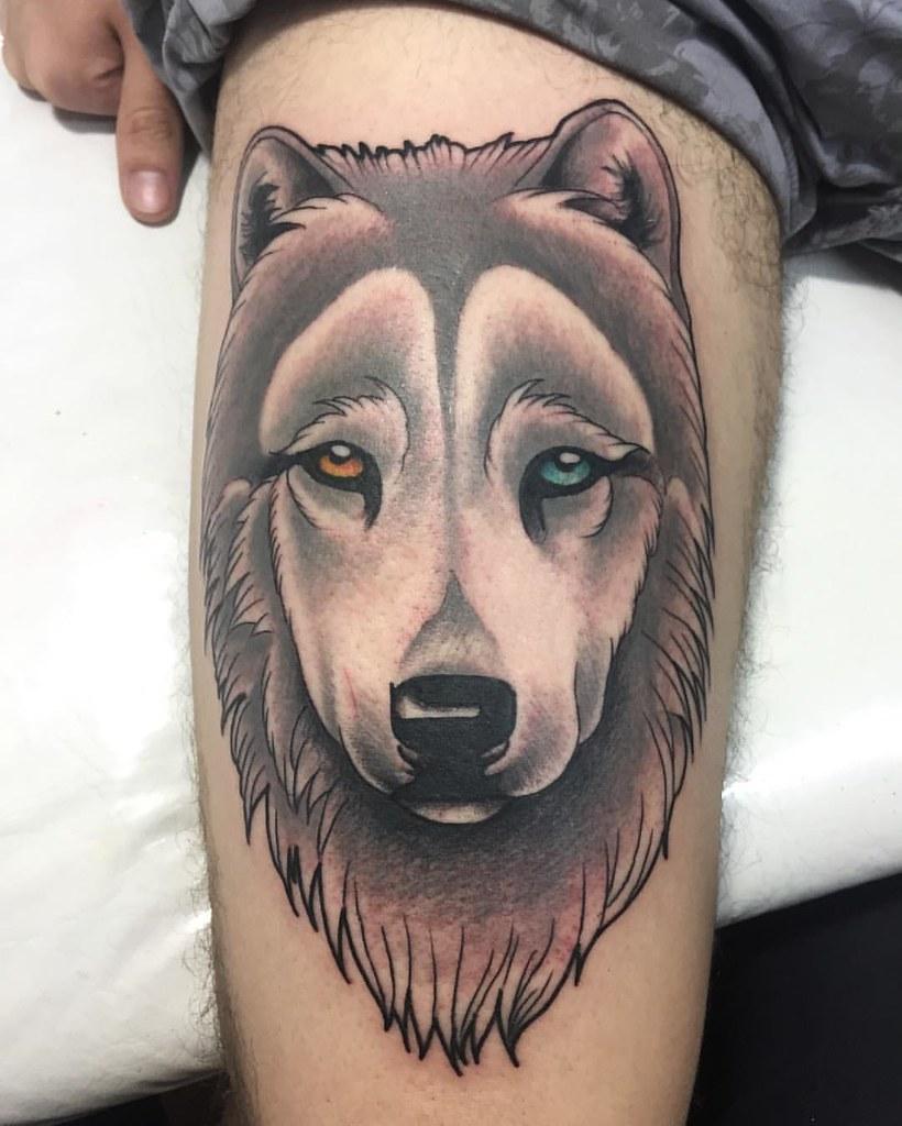 33117992270 fea2891efc b - Neo Traditional Tattoo Dog