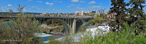 bridges waterfalls rivers spokaneriver monroestreetbridge spokanewashingtonstate