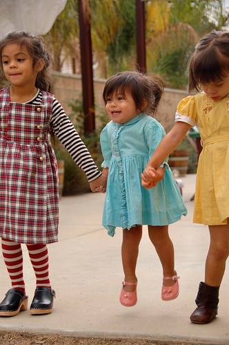 plaid, flowers stripes, mustard, and clogs | by rubyellen