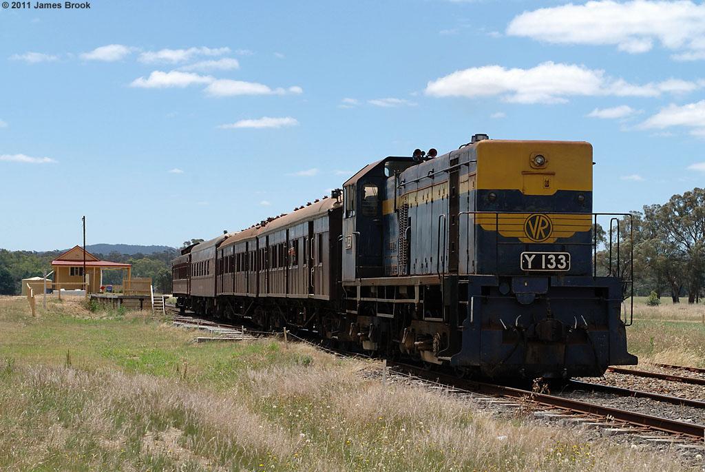 Y133 departs Muckleford by James Brook