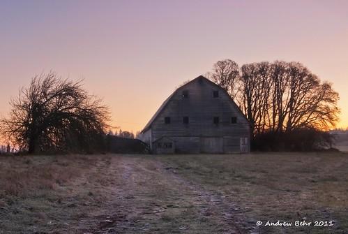barn sunrise washington pacificnorthwest