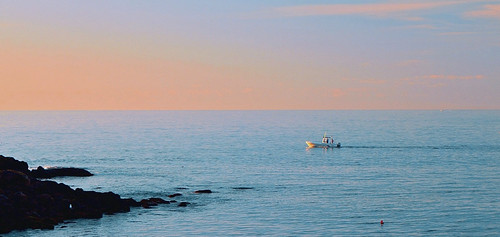 sea boat yorkmaine capeneddicklighthousesmallboat sunrise buoyant pjddigipic cloudsstormssunsetssunrises supershot oblong