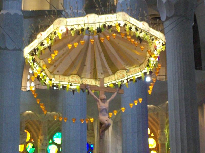 La Sagrada Familia -- eucharist sculpture