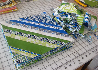 string blocks ready to be turned into a quilt top!