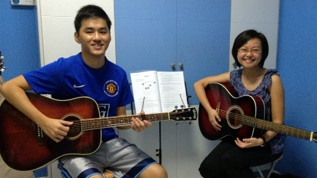 Private guitar lessons Singapore Wei Yee