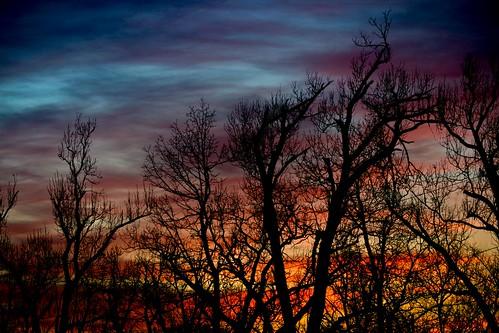 sunset night cloudy regionwide