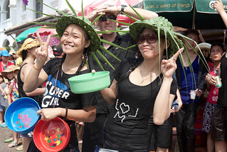 laos-luang-prabang-laos-new-year-phi-mai-lao-girls-in-leaf-hats-watch-water-festival-parade-tiger trail-cyril-eberle CEB-5720.jpg | by Tiger Trail Laos