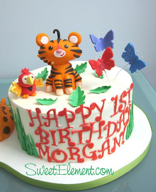Stupendous Fisher Price Tiger Toucan 1St Birthday Cake Sweetele Personalised Birthday Cards Beptaeletsinfo