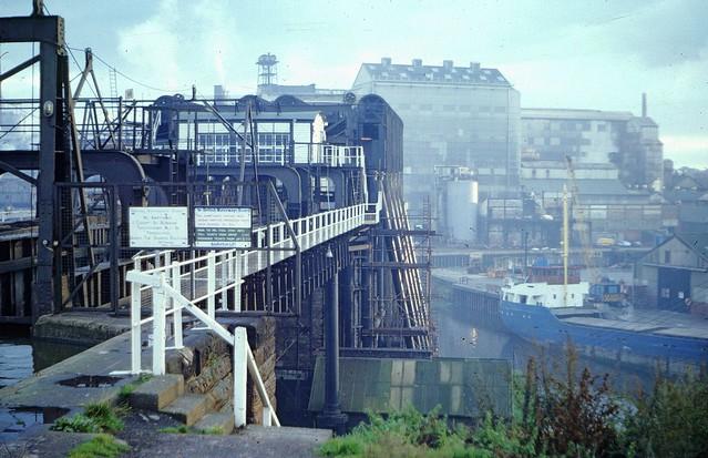 Anderton boat lift, near Northwich, in 1981