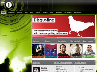 Radio 1 website, c.2007 | by radio1interactive