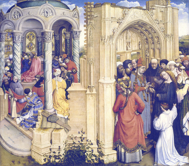 Robert Campin - The Betrothal of the Virgin (1420)