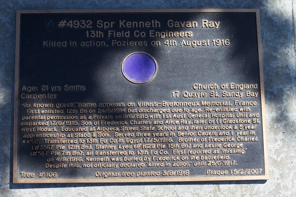 In Memory of Kenneth Gavan Ray