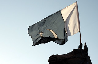 Day 10 - The Pakistani flag is flying high at an intersection   by Shahzeb Younas