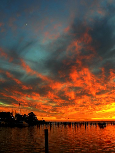 sunset red sky cloud moon beach home water sailboat pier boat alabama crescent reflect wharf sail daphne mobilebay