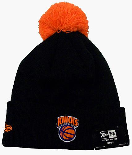 0edae6508b9935 ... NBA New Era - New York Knicks Knit Hat Beanie Cap Pom Black HWC Arched-