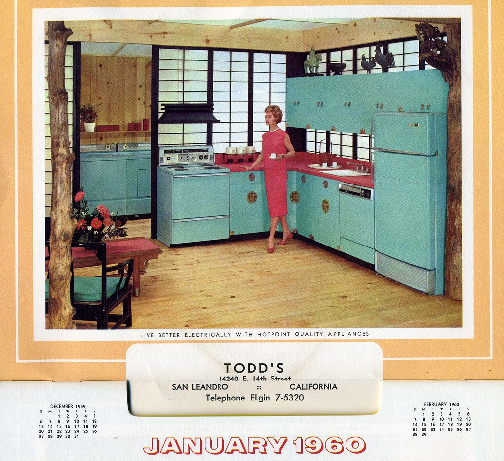 1960 Calendar.1960 January Hotpoint Appliance 1960 Calendar From Todd S Flickr