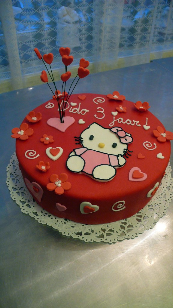 Swell Hello Kitty Birthday Cake Cakeamsterdam Com Flickr Personalised Birthday Cards Epsylily Jamesorg