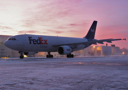 sunrise aircraft cleveland cargo airbus fedex hopkins clevelandhopkins cle a300 airfreight kcle n741fd