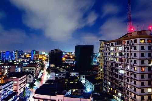 africa road street city light skyline night dark tanzania long exposure view cloudy daressalaam ricohgrd3