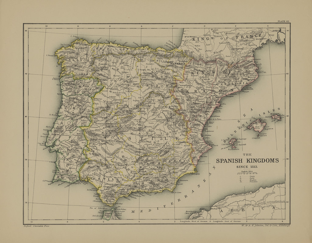 Map page of Section LXII The Spanish Kingdoms since 1513 f