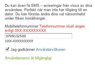 Mobiltelefonnummer