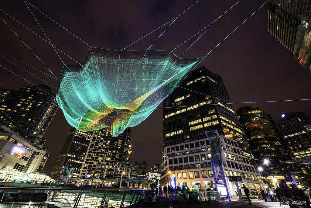 Janet Echelman's Netting Sculpture - Explored!