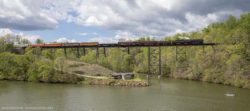 railroad trestle bridge steamlocomotive fallingcreek nw611