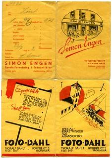 Fotoframkalling hos Simon Engen og Foto-Dahl (1942) | by Trondheim byarkiv