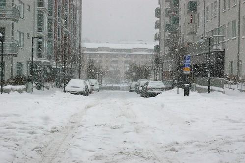 Winter in Hammarby Sjöstad