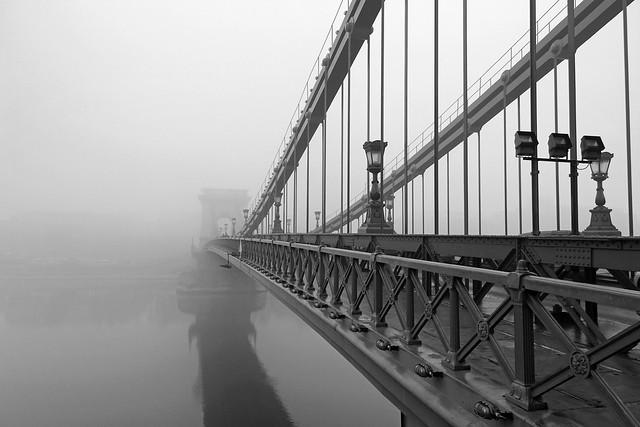 Foggy Chain Bridge - walking through 5