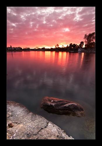 california pink sunset red lake day orangecounty irvine fiery woodbridge thanksgibing woodbridgelake