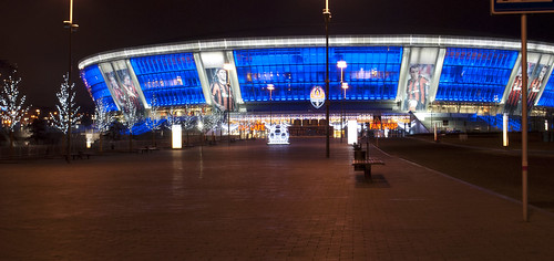 Stadium of Shahtar Donetsk at night | by karpidis