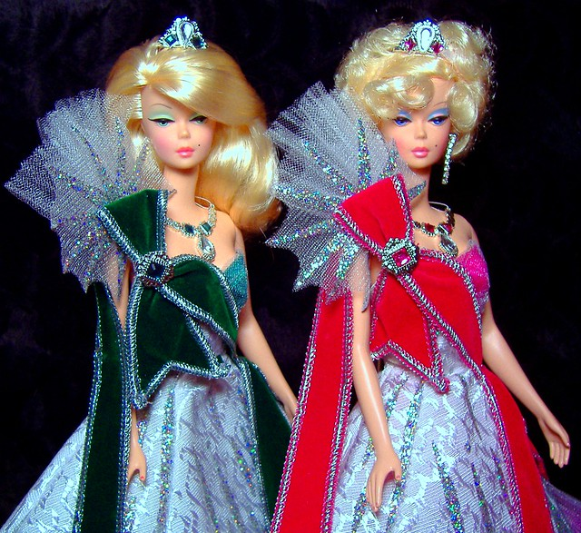 Priscilla & Lisette in Mackie Holiday gowns #2