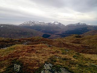 Looking back towards Beinn Dubhchraig (978m), Ben Oss (1029m) & Ben Lui (1130m) | by Rossco Mac 7
