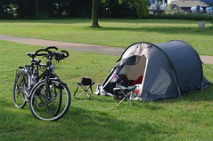 our bicycles and tent