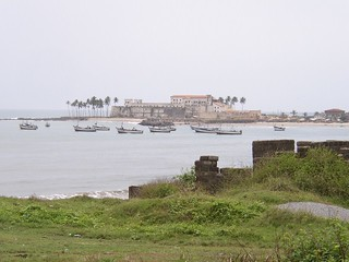 Elmina Castle in the distance (Ghana 2005)