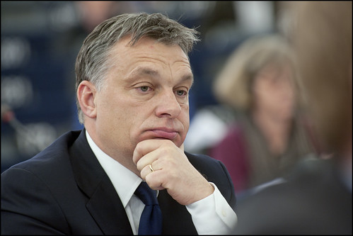 Victor Orban during the debate on the political situation in Hungary | by European Parliament