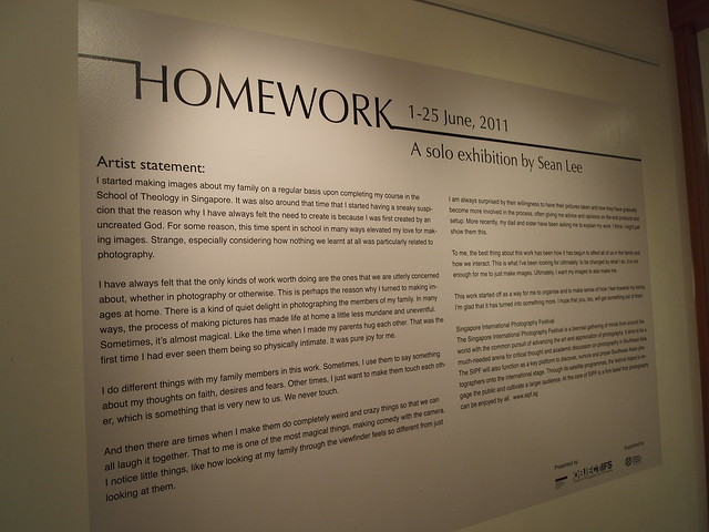 Homework by Sean Lee at Objectifs Gallery