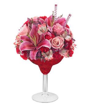 Red & Pink Floral Margarita