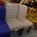 High back fabric dining chair