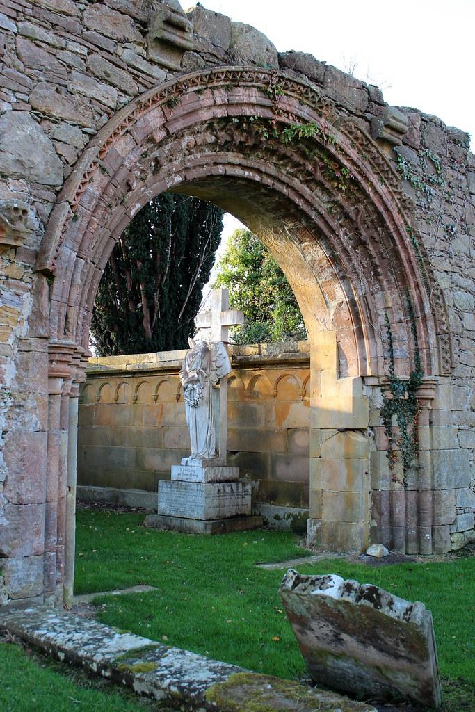 A headless angel statue at Kinloss Abbey | Sari | Flickr