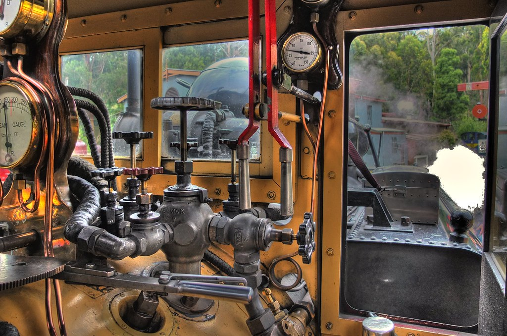 Fuji X10 (150 Psi) Inside the cabin of a Steam train HDR