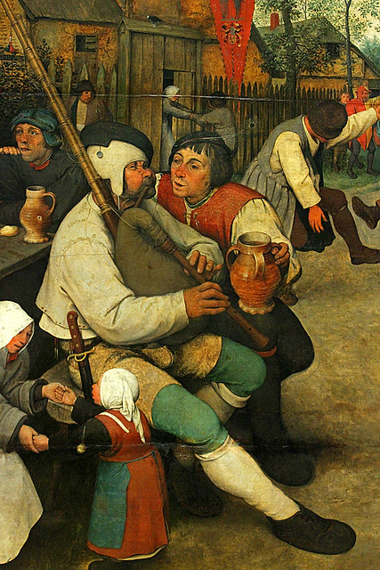 Bruegel the Elder, Peasant Dance, detail 3