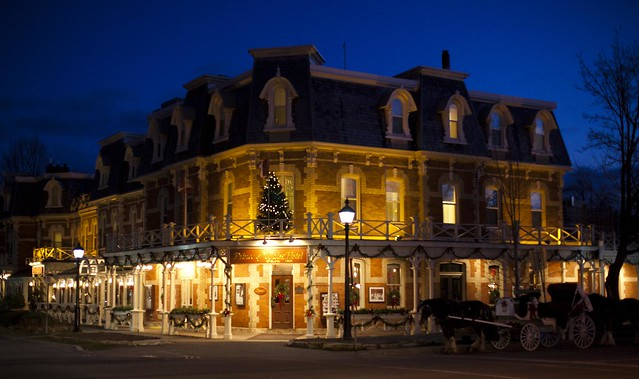 Dusk at Christmas, Prince of Wales Hotel, Niagara-on-the-Lake, Ontario