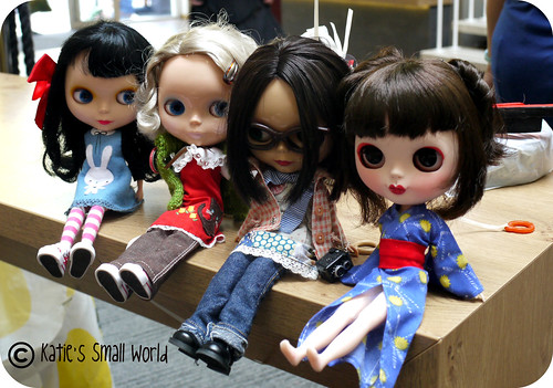 Kirby, Kittie, Enid and Yuki relaxing after BCUK 2011.