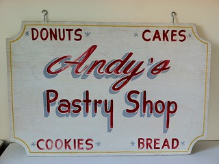Andy's Pastry Shop Sign