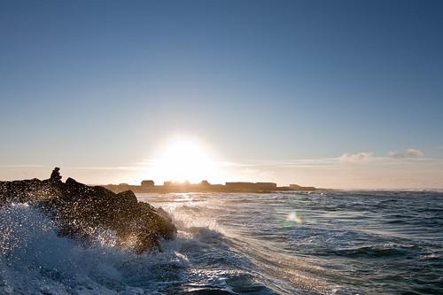 sunset sea iceland waves wave reykjanes sjór hcs hafnir